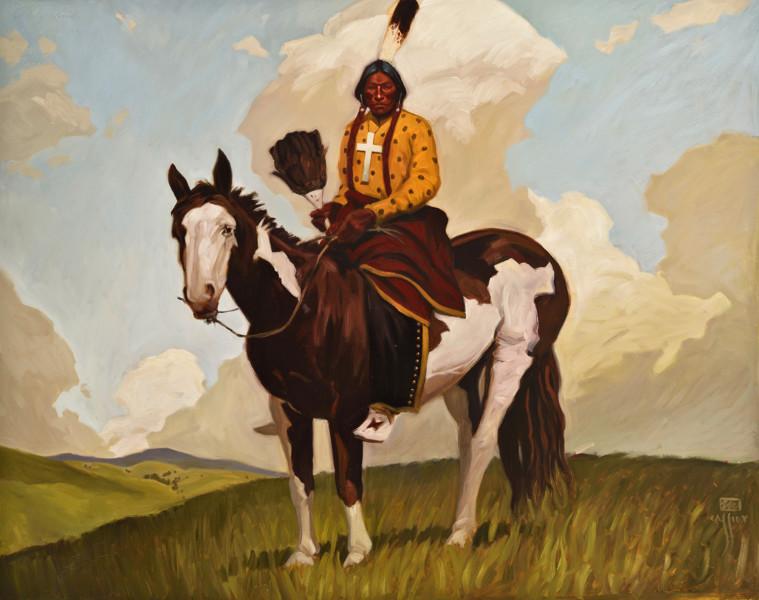 """Cheyenne Holyman, Powder River Country 48"""" X 60"""""""