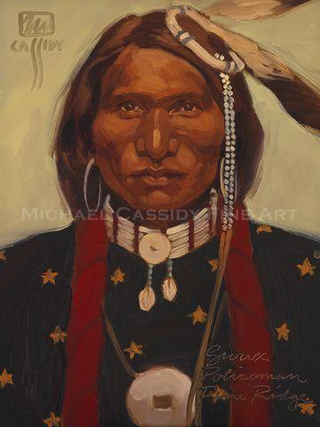 Sioux Policeman Pine Ridge