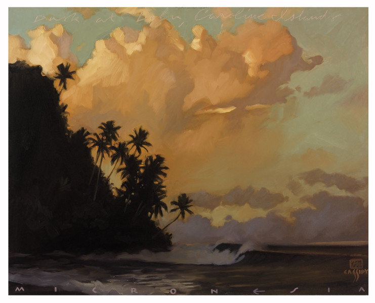 "Dusk at Lelu Print Size: Regular 17""x22"" Price: $650 Size: Deluxe 24""x30"" Price: $1,850"