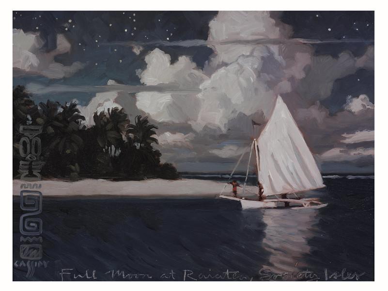 Full Moon at Raiatea Society Isles