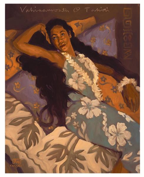 "Vahinamoata O Tahiti Size: Regular 16""x20"" Price: $650"