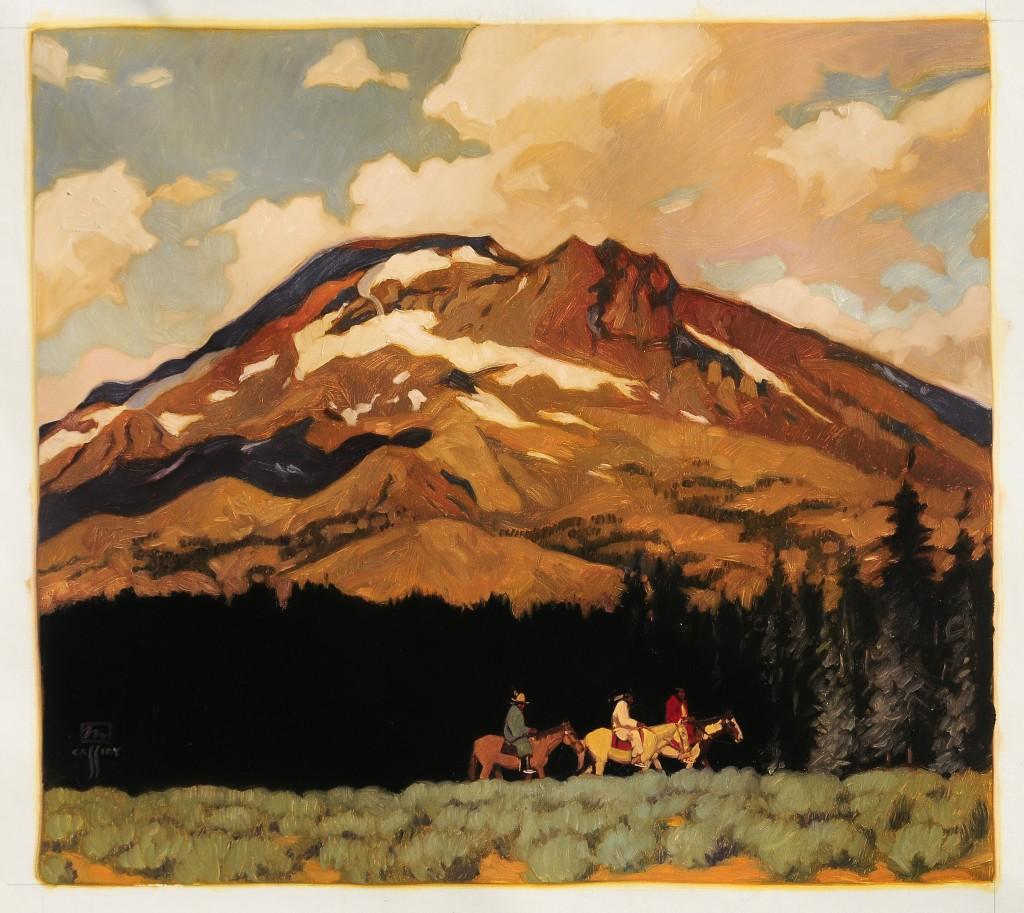 "Nez Perce in The Cascade Range  36""x40"""