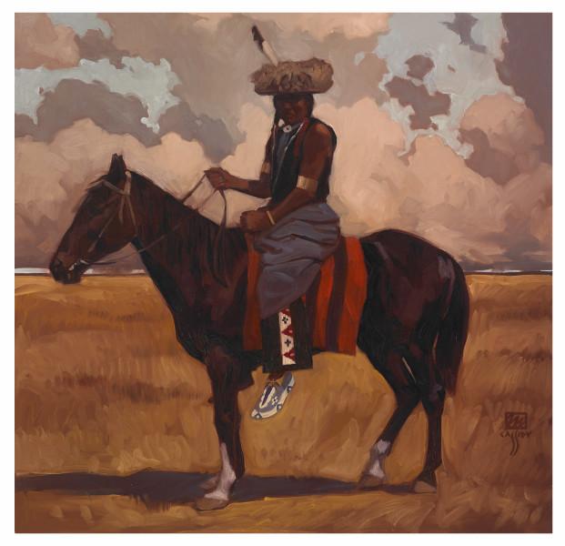 "Piegan Horseman 28"" X 30"" Price $850"