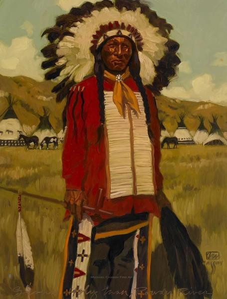 "Sioux Holyman Powder River 31"" X 40"" Price $1,800"