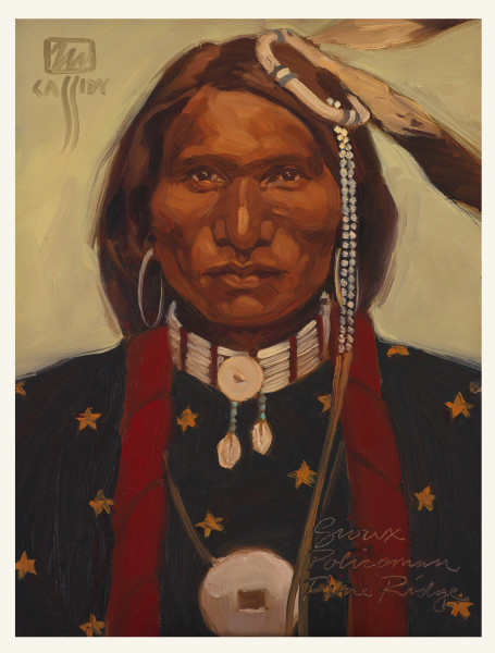 Sioux Policeman 9″ X 12″ Price $350