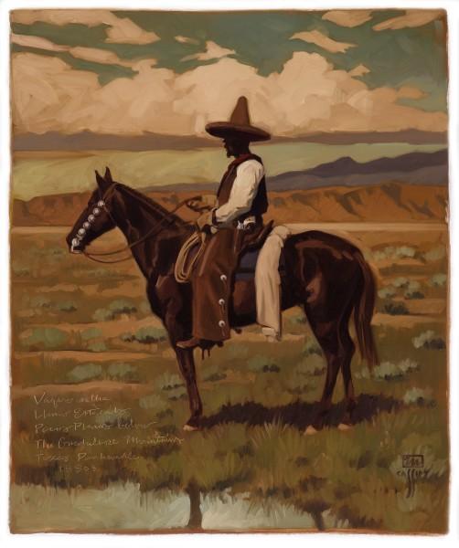 """Vaquero on The Llano Estacado 30"""" X 36"""" Price $1,200"""