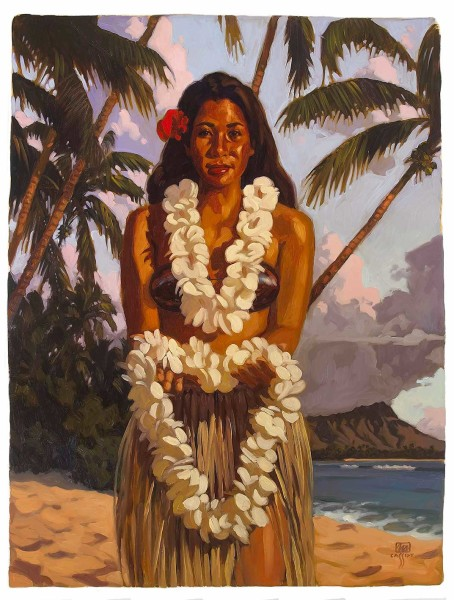 """Welcome to Waikiki Size: Regular 17""""x22"""" Price: $650 Size: Deluxe 24""""x30"""" Price: $1,850"""